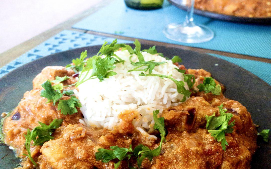 Chicken Tikka Masala + Riesling